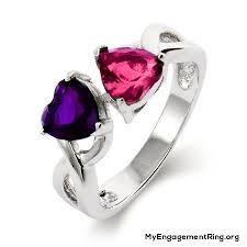 Purple Wedding Rings by Engagement U0026 Wedding Rings