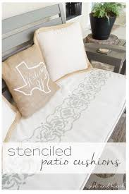 Diy Patio Cushions Stencil Those Boring Patio Cushions Monthly Diy Challenge