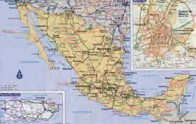 map of mexuco map of mexico highways major tourist attractions maps