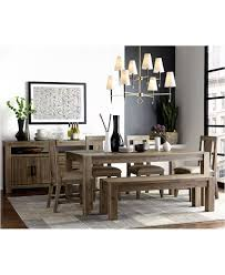 canyon 6 piece dining set created for macy s 72 canyon 6 piece dining set table 4 side chairs and bench furniture