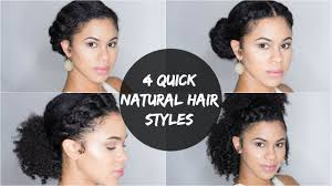 Hairstyles Easy And Quick by 4 Quick And Easy Natural Hair Styles Youtube