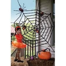 Decorative Spiders Evergreen Flag U0026 Garden Giant Spider Web Halloween Decoration