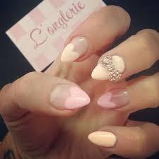 heart shaped gel nails bow nails pinterest nail nail and makeup