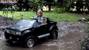 jeep power wheels black high volts rc power wheels ford f 150 mudding youtube