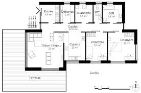 plan d une chambre plan d une salle de bain 6 plan maison passive plain pied ooreka
