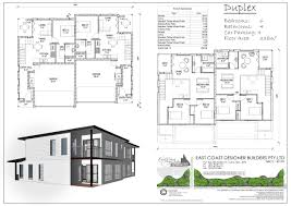 Dual Occupancy Floor Plans East Coast Designer Builders Cairns Duplex