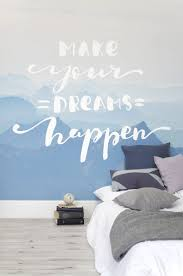 33 best retro wallpaper murals images on pinterest retro dreams happen inspirational quote wall mural