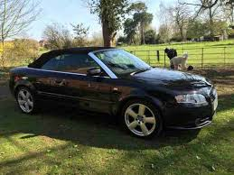 audi a4 convertible s line for sale audi a4 convertible s line tdi black 07 low mileage car for sale