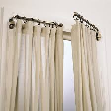 Installing Drapery Rods Umbra Curtain Rods For Bay Windows Best Curtains Home Design Ideas