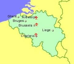 belguim map belgium airports flights to belgium from the uk or ireland