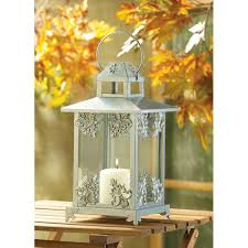 Lantern Centerpieces Wedding Wholesale Silver Tone Metal Filigree Design Candle Lantern Glass