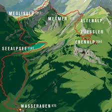 Stone Mountain Map Cable Car Wasserauen Ebenalp Route 10