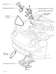 lexus lx450 alternator 1996 lexus lx 450 serpentine belt routing and timing belt diagrams