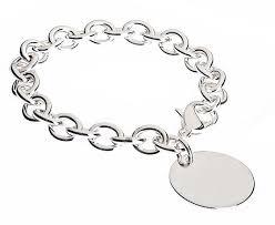 silver tag bracelet images Tiffany style sterling heavy gauge round tag bracelet