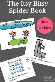 itsy bitsy spider printable book