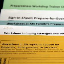 Emergency Preparedness Worksheet How To Prepare For Everything Prepare For Disruptions Prepare