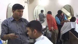suraj sharma at hair salon in connaught place a block royal plaza