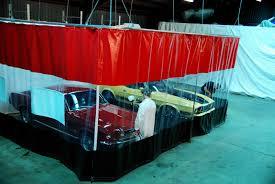 auto body curtain walls u0026 garage divider curtains
