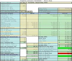Estate Investment Spreadsheet Template by Property Analysis Worksheet Form Bargains Llc A