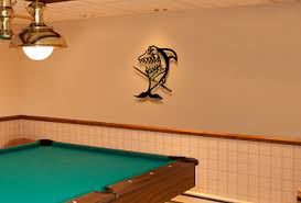 pool table wall art 3d metal wall art sculpture pool shark mom tattoo game room