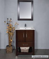 24 Inch Bathroom Vanity With Sink by A 24 Inch Bathroom Vanity With Open Bottom Shelf For Towels Or