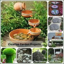 Creative Garden Decor Gardening Ideas Creative Projects And Decor The Gardening Cook