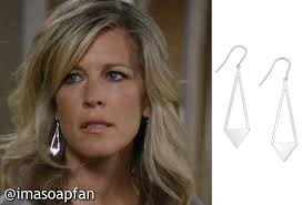 carlys haircut on general hospital show picture carly corinthos jacks s silver triangle drop earrings general