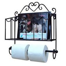 Wrought Iron Bathroom Shelves Fashion Wrought Iron Furniture Paper Towel Holder Magazine Rack