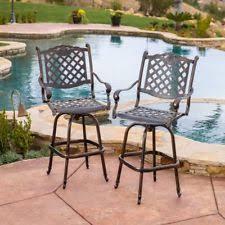 outdoor swivel bar stools ebay