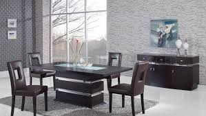 modern pedestal dining table brown modern pedestal dining table w glass inlay options