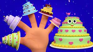 cake finger family birthday song for kids nursery rhymes for