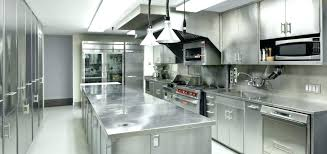 stainless steel kitchen island with drawers countertop wood top