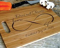 customized wedding gift personalized cutting board cheese tray engraved and carved