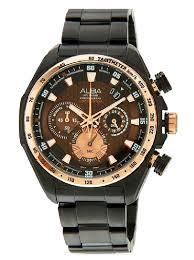 Jam Tangan Alba Emas harga alba chronograph au2098 jam tangan pria emas hitam