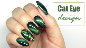 cat eye design nail art tutorial my wonderland youtube