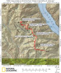 Chelan Washington Map by First Sota Activation