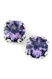 amethyst stud earrings samuel b jewelry sterling silver pink amethyst stud