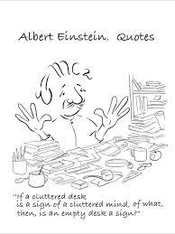 Cluttered Desk Albert Einstein Portrait Of Albert Einstein Bobonart