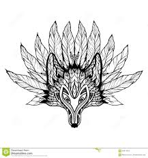 Wolf Mask Doodle Wolf Mask Stock Vector Image 58414813