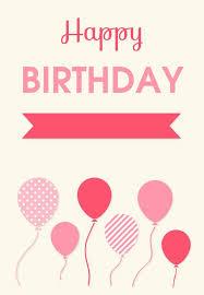 birthday card free printable free birthday c hp free printable