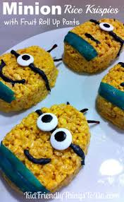 rice krispie treats for thanksgiving minion rice krispies treats fun food idea