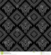 seamless damask floral geometric wallpaper stock vector image