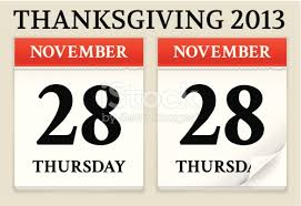 calendar date showing thanksgiving stock vector 185149426 istock