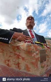 Flag Of Antigua A Statue Of Sir Vere Cornwall Bird First Prime Minister Of