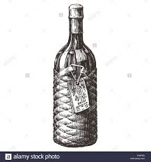 cartoon alcohol jug retro wine bottle vector logo design template alcohol drink or