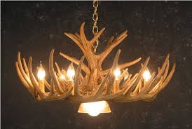 cast whitetail deer antler chandeliers
