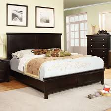 Low Profile King Bed Shop Furniture Of America Spruce Espresso King Low Profile Bed At