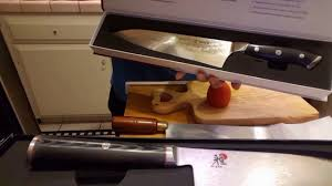 hanzo 9 5 chef knife vs miyabi kaizen chef knife youtube