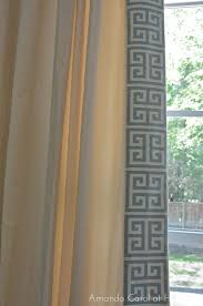 Pinterest Curtain Ideas by Curtain Designs Gallery Amanda Carol At Home Diy Greek Key Trimmed