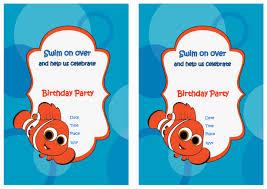 free printable invitations birthday free printable finding nemo birthday invitations printable